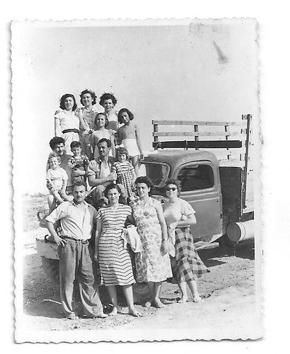 Family with the pick up truck
