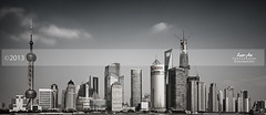 Shanghai Skyline (MC) (Lao An (PhotonMix)) Tags: china longexposure clouds mono nikon cityscape skyscrapers shanghai pudong jinmaotower d800 orientalpearltower swfc