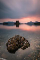 Castle Stalker (Dave Brightwell) Tags: longexposure sunset castle rock scotland stalker bwnd davebrightwell