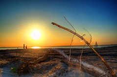 Backyard view (retropman) Tags: sunset beach nature clouds nikon lensflare oceancity hdr d3100