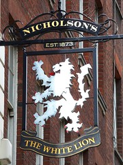 The White Lion Pub, London (teresue) Tags: uk greatbritain england london pub unitedkingdom lion pubsign londonpub 2013 thewhitelion nicholsons