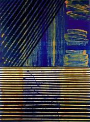 Juan Uslé 96 pasos detrás de la realidad. 1996 (Fuente. Ciudad de la Pintura)