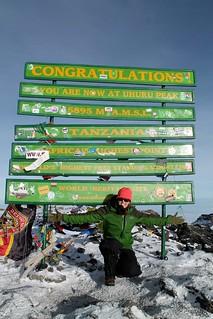 Kelsey at Uhuru Peak!