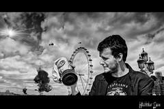 Something bad BW (HitchhikerDave) Tags: urban london apocalypse processing gasmask postapo