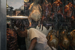 (onesevenone) Tags: city nyc newyorkcity urban ny newyork chicken window america store chinatown unitedstates front meat butcher worker gothamist eastcoast stefangeorgi onesevenone