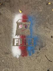 Patriotic Flife (wiredforlego) Tags: streetart ny newyork brooklyn graffiti stencil urbanart williamsburg illegalart flife