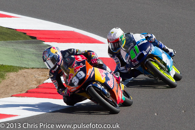 Luis Salom and Brad Binder