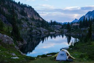 Dawn on Rampart Lakes