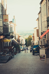 France (Kaat dg) Tags: road street light summer france town nikon 50mm14 d5100