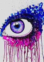 splash eye (die Zitronenschale) Tags: eye painting drawing auge zeichnung