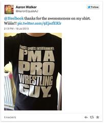 Aaron Walker tweet-reviews his shirt