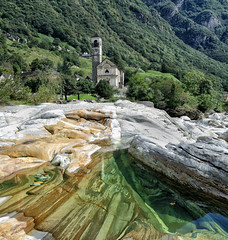 Water, Rocks, Church