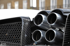 Four pipes (TomasMouton) Tags: uk england white london nikon united pipes kingdom tomas supercar mouton exhaust pagani d90 2013 huayra tomasmouton