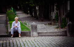 These days ... /    (mohammadali) Tags: life park street old trip summer vacation people woman paris france lady canon photography photo europe alone euro citylife strangers streetphotography august stranger days 5d oldwoman lonely aug  lachaise streetshot     capitalcity 1392    2013 loniness   5dmark2
