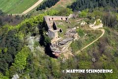 MS _DSC0088 - Vorderweidenthal, burg Lindelbrunn (vosgesphotos) Tags: nord vosges chateaux avion vues ruines ariennes tourbieres