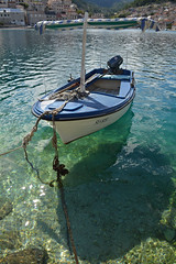 ~~ It's Always Summer Somewehere ~~ (~Ranveig Marie~) Tags: pictures ocean blue houses shadow sea summer vacation sun holiday water sunshine buildings boat europe village photos croatia images clear ropes croazia archipelago adria