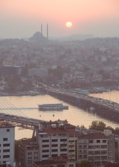 Istanbul Sunset - From Galata Tower - 2013 (lambertwm) Tags: panorama holiday turkey vakantie view istanbul turkije istanboel