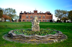 Aston Hall, Birmingham (bodythongs) Tags: park trees windows sculpture house fountain statue museum garden lights evening hall football birmingham nikon war dusk thomas lawn craft fair civil thorpe bracebridge villa trust candlelight mansion museums holte fontain château fayre aston manoir glazing jacobean gradeilisted d5100 bodythongs