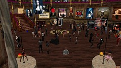 The House Of V (alexandriabrangwin) Tags: party woman alexandria fetish computer design dance 3d graphics crowd rubber event secondlife virtual latex epic cgi hugos brangwin thehouseofv