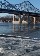 The Ice Cometh (DewCon) Tags: ice bridges mississippiriver