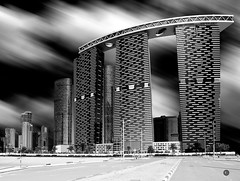 The Gate Towers and the Arc|Long Exposure (vineetsuthan) Tags: dubai uae abudhabi gatetower leefilter londexposure reemisland vineetsuthan muhaisana4