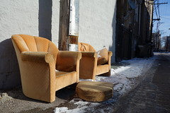 frigid lounge (KevinIrvineChi) Tags: urban snow chicago cold alley chairs freezing scene chilly streetfurniture frigid chill byob comfy chicagoist byo byoeverything