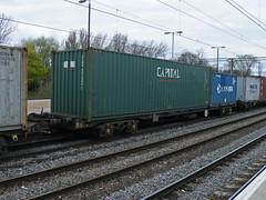 92562 Northampton 300413 (Dan86401) Tags: wagon northampton flat capital container fl 92 freight modal rls kfa freightliner intermodal 92562 railease 4m94 standardwagon rls92562