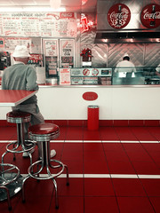 (CameliaManea) Tags: red food restaurant coke retro hamburgers cocacola