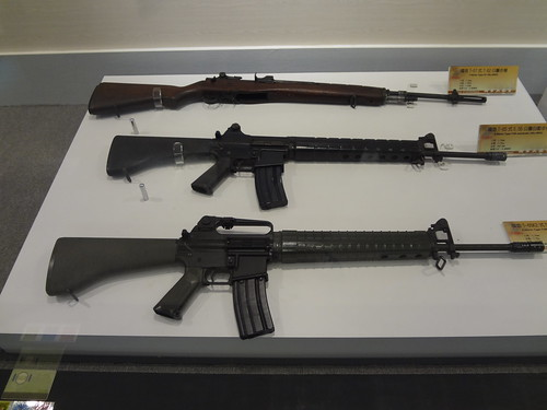 Various rifle firearms