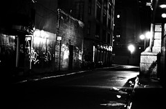 Chinatown side street (metro special) Tags: city newyorkcity blackandwhite film dark scary garbage alley grim manhattan rough filth filthy filmgrain