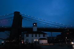 Brooklyn Ice Cream Factory (Barney A Bishop) Tags: city nyc newyorkcity nightphotography bridge urban lighthouse brooklyn landscape cityscape bluesky noflash brooklynbridge brooklynbridgepark brooklynicecreamfactory nightphotograph nx300 samsungusa imagelogger