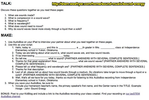 Sound Energy Radio Show Script by Wesley Fryer, on Flickr