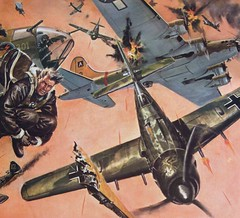Black Thursday (Norris Sperry) Tags: fighter bomber fw190 bailout b17f 8thaf