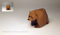 BROWN BEAR (18 JAN 2014) (Zsebe Origami) Tags: bear oso brownbear origamibear zsebeorigami jozsefzsebe origamioso zsebesworks