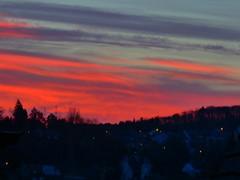 P1050184trav (pascalpiette) Tags: leica city red cloud sol clouds sunrise lumix soleil belgium belgique alba cities down du jour panasonic amanecer aurora wee hours raymond pascal towns huy octave heure lever bleue aurore aube piette dmcfz72 25022014