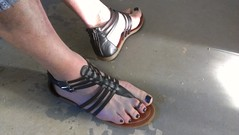 Gladiator sandals on man with polish (2moshoes) Tags: