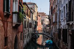 Venetian Back Alley (MoustashaLouise) Tags: travel bridge venice italy love architecture photography boat canal europe italia friendship map ponte explore di gondola quaint padlock venezia sighs padlocks sospire