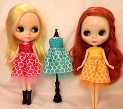 Easter egg dresses. I can't resist a pretty polka dot.