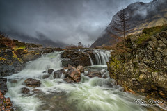The River Coe falls (Mike Ridley.) Tags: glencoe scotland scottishhighlands rivercoe sonya7r2 sonyfe1635f4 leefilters mikeridley nature waterfall