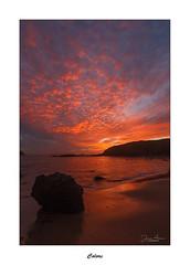 Colors... (Canconio59) Tags: ocaso sunset red rojo colores colors galicia españa spain mar sea cielo sky nubes clouds rocas rocks costa coast