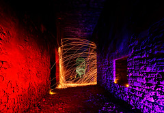 Lightpainting (ComputerHotline) Tags: colors couleurs peinturedelumière lightpainting poselongue longexposure rouge red bleu blue prisedevueenintérieur indoors étincelles sparks mur wall explorationurbaine urbanexploration ruines ruins ruine ruin abandon derelict dereliction urbex créativité creativity minedecharbon coalmine effetlumineux lighteffect pailledefer wirewool nuit night éclairage lightingtechnique magnydanigon franchecomté france fra