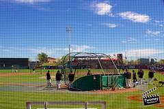 More Giants BP (danieltwomey) Tags: arizona az baseball giants old scottsdale set spring sun sunset town training