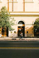 Cyclable lane (lorenzoviolone) Tags: doors finepix fuji400h fujix100s fujifilm fujifilmx100s vsco vscofilm x100s asphalt entrance mirrorless shadows stranger streetphoto streetphotocolor streetphotography trees walk:rome=jan2017 walking roma lazio italy