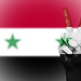 Peace Symbol with National Flag of Syria