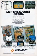 Konami - Let the Games Begin (justinporterstephens) Tags: videogames retrogames retrogaming vintageads nintendo nes