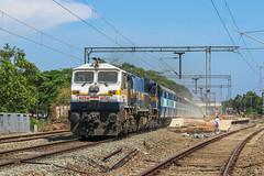 Raging EMD (Akhil Sanjeev) Tags: rail railroad station railfanning railway southernrailway trainspotting train vehicle outdoor locomotive diesel emd cherthala indianrailays wdp4d vatva