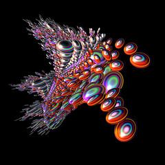 TEHI5 Eye Ascend (FractallyAware) Tags: fractallyaware fractal 3dfractalart incendia