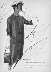 Monte-Sano for Lord & Taylor 1956 (barbiescanner) Tags: fashion vintagefashion 50s 50sfashion vintageads vintage retro lordandtaylor montesano vintagefashionillustration