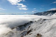 Freezing Fog, Mono Basin, CA (4 Corners Photo) Tags: 4cornersphoto basinandrangeprovince california clouds cold color fog inyonationalforest landscape lenticular monobasin monobasinnationalscenicarea monocounty mountains northamerica pogonip rural scenery shadow sierraescarpment sierranevada sky snow temperatureinversion unitedstates weather winter leevining us