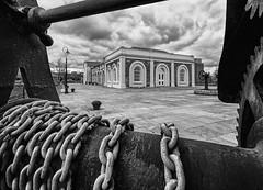 Links to the past (Good News Snaps) Tags: bw blackwhite mono belfast docks eosm